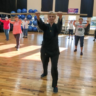 Victoria instructs her Tai-Chi class on Tue & Thu at 9am