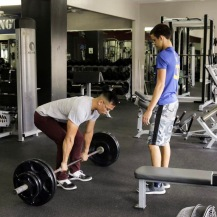 Certified Personal Trainer, Vincent, demonstrates how to perform a deadlift.